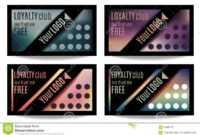 Fun Customer Loyalty Card Templates Stock Vector within Customer Loyalty Card Template Free