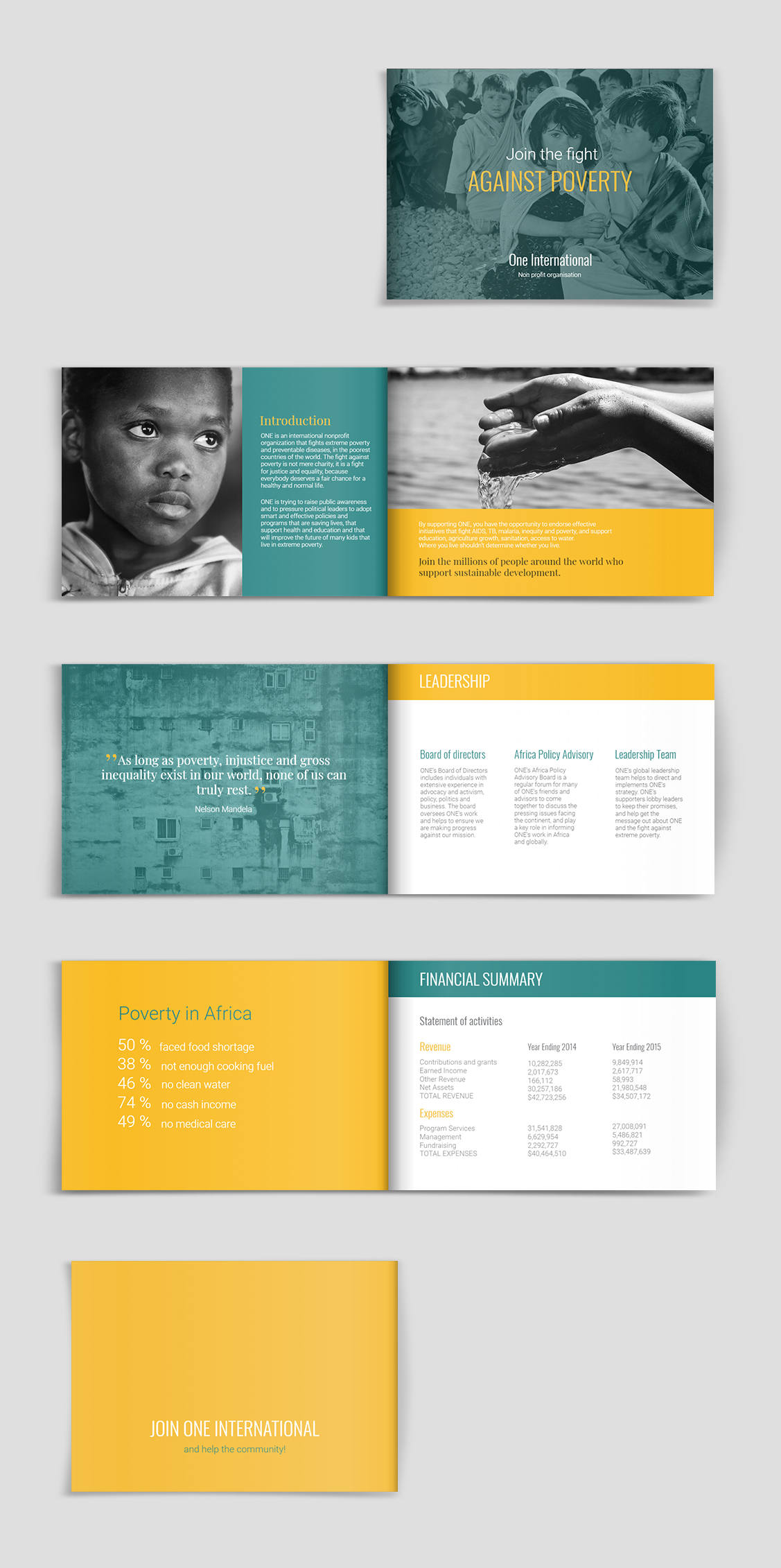 Fundraising & Charity Brochure Template   Brochure Template inside Ngo Brochure Templates