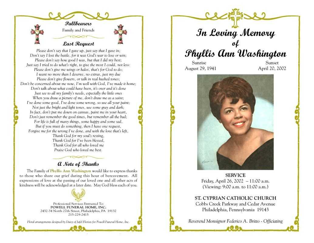 Funeral Program Template Sample Free Loving Memory Templates For Remembrance Cards Template Free