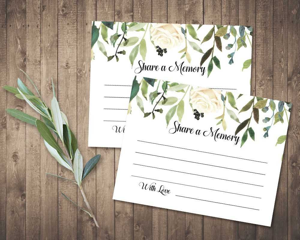 Funeral Share A Memory Card | Printable Funeral Memory Card With In Memory Cards Templates