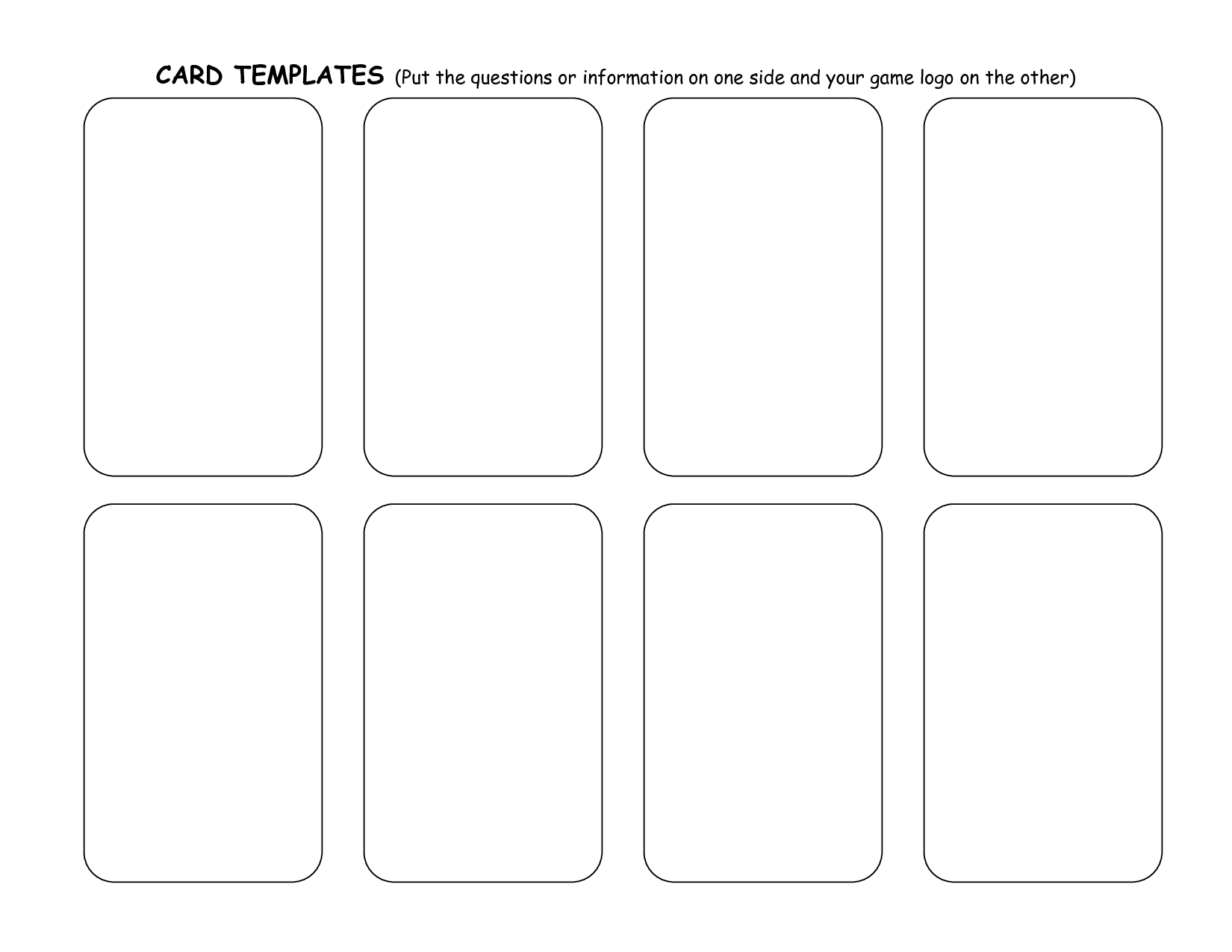 Game+Card+Template | Trading Card Template, Word Template for Template For Playing Cards Printable