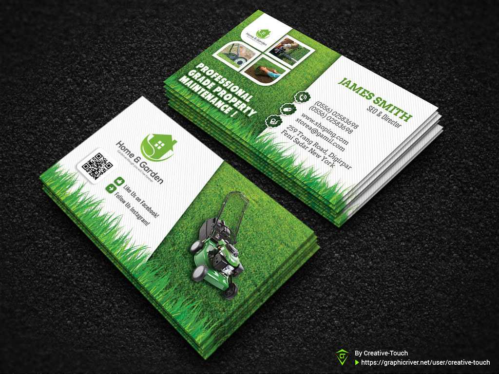 Garden Landscape Business Card Template | Download Here - Gr Pertaining To Landscaping Business Card Template