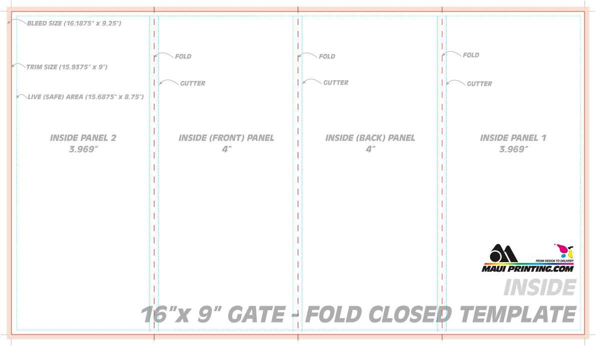Gate Fold Brochure Template - Cumed For 4 Fold Brochure Template