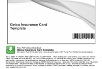 Geico Insurance Card Template Pdf – Fill Online, Printable in Auto Insurance Card Template Free Download