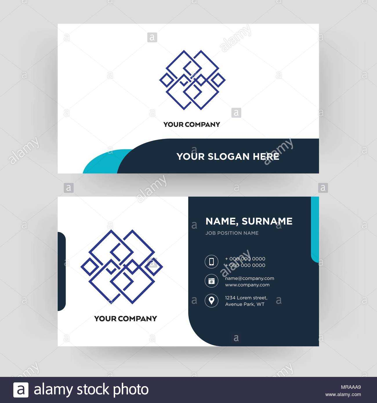 Generic, Business Card Design Template, Visiting For Your With Generic Business Card Template