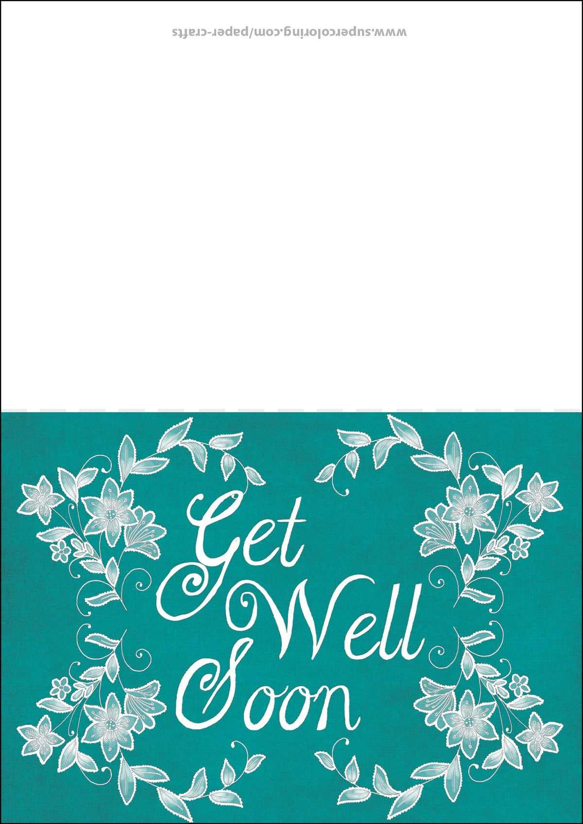 Get Well Soon Card Template | Free Printable Papercraft Within Get Well Soon Card Template