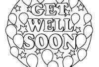 Get Well Soon Cards Coloring Printable – Champprint.co pertaining to Get Well Card Template