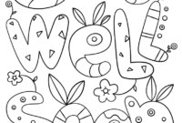 Get Well Soon Doodle Coloring Page | Free Printable Coloring with Get Well Soon Card Template
