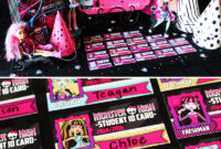 Ghoulish & Glam Monster High Birthday Party // Hostess With within Monster High Birthday Card Template