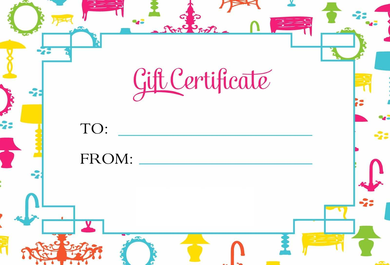 Gift Certificate Template For Kids Blanks | Loving Printable Pertaining To Kids Gift Certificate Template