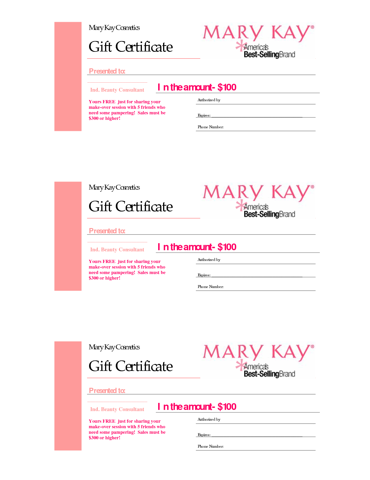 Gift Certificates | Mary Kay Gift Certificate! In 2019 Throughout Mary Kay Gift Certificate Template