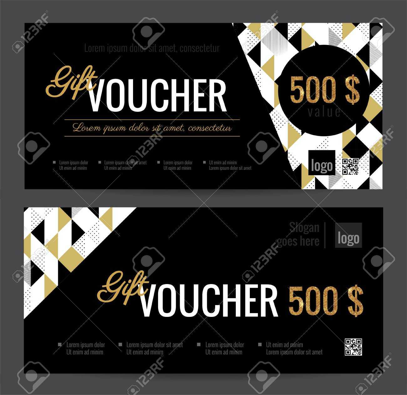 Gift Voucher Coupon Discount. Elegant Gift Certificate Template.. pertaining to Black And White Gift Certificate Template Free