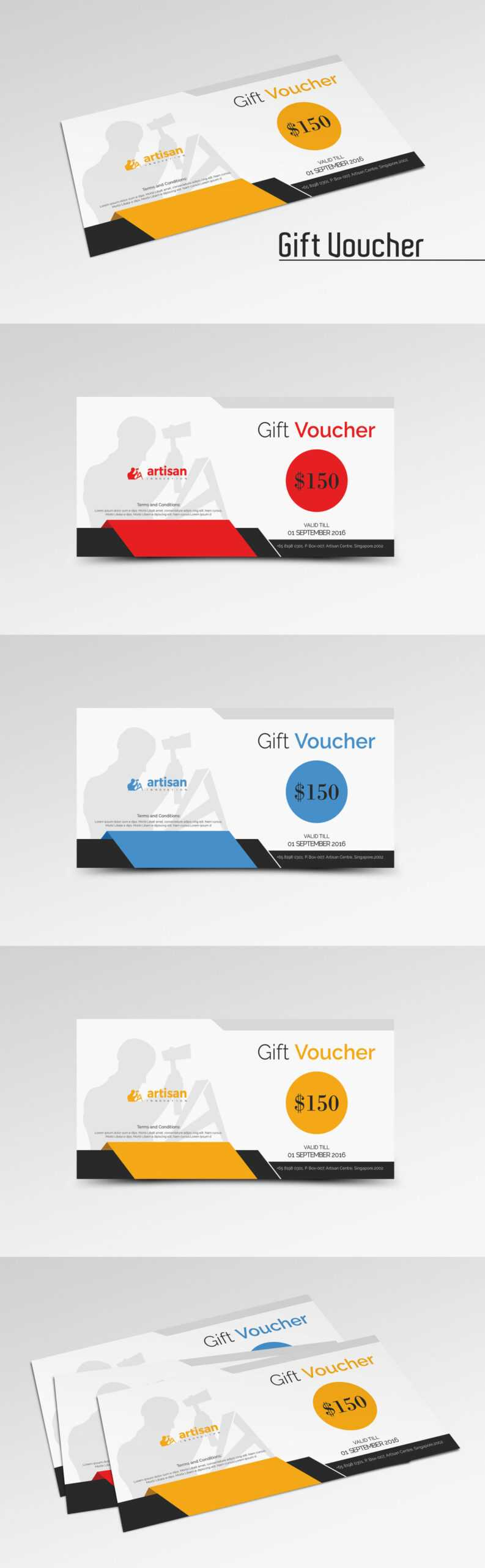Gift Voucher Template Ai, Eps, Psd | Gift Voucher Design within Gift Card Template Illustrator