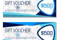 Gift Voucher. Vector, Illustration. Coupon And Voucher Template.. pertaining to Company Gift Certificate Template