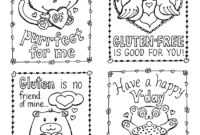 Gluten-Free Valentine's Day Cards, Plus A Mini Kid-Size with Valentine Card Template For Kids