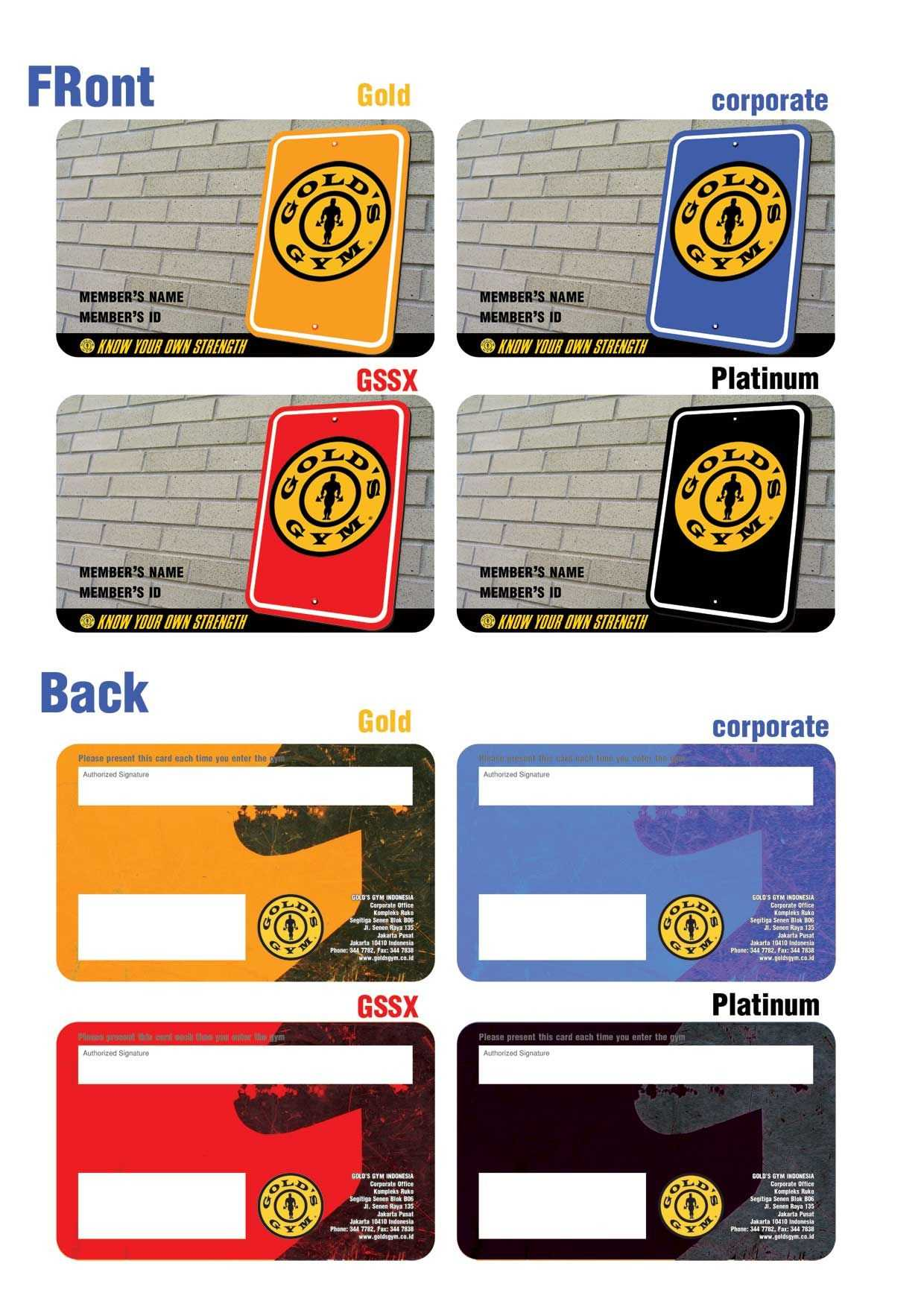 Gold Gym Membership Card intended for Gym Membership Card Template