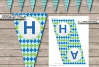 Golf Party Banner Template – Blue & Green inside Free Printable Party Banner Templates