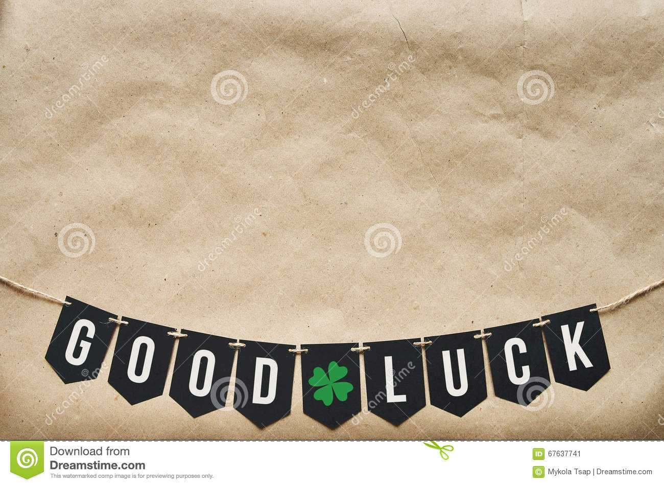 Good Luck Banner Lettering Stock Image. Image Of Craft For Good Luck Banner Template