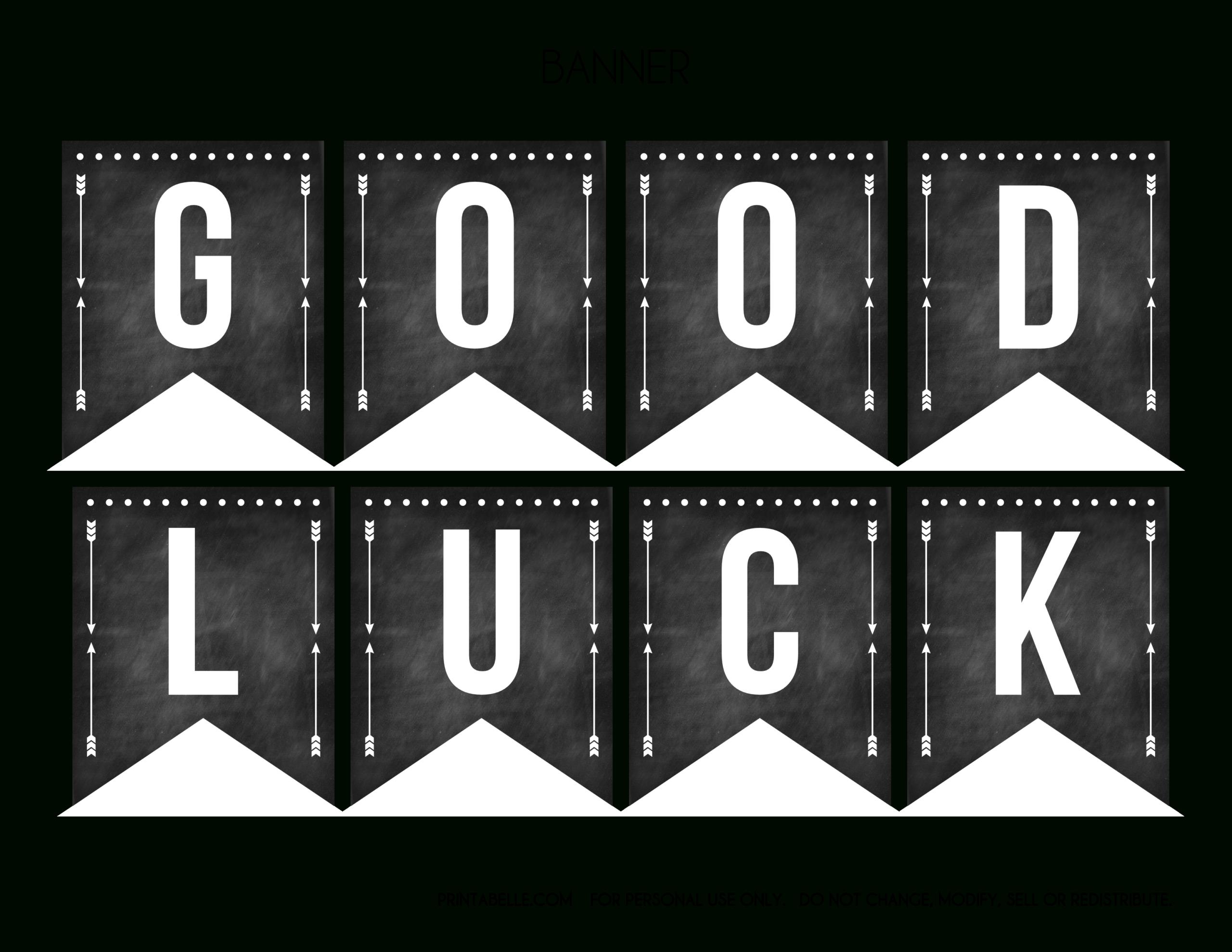 Good Luck Banner Template Best Template Examples Inside Good Luck Banner Template