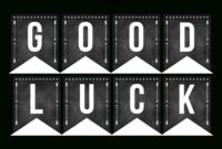 Good Luck Banner Template Best Template Examples   Sweet In throughout Good Luck Banner Template