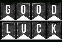 Good Luck Banner Template Best Template Examples with regard to Good Luck Banner Template