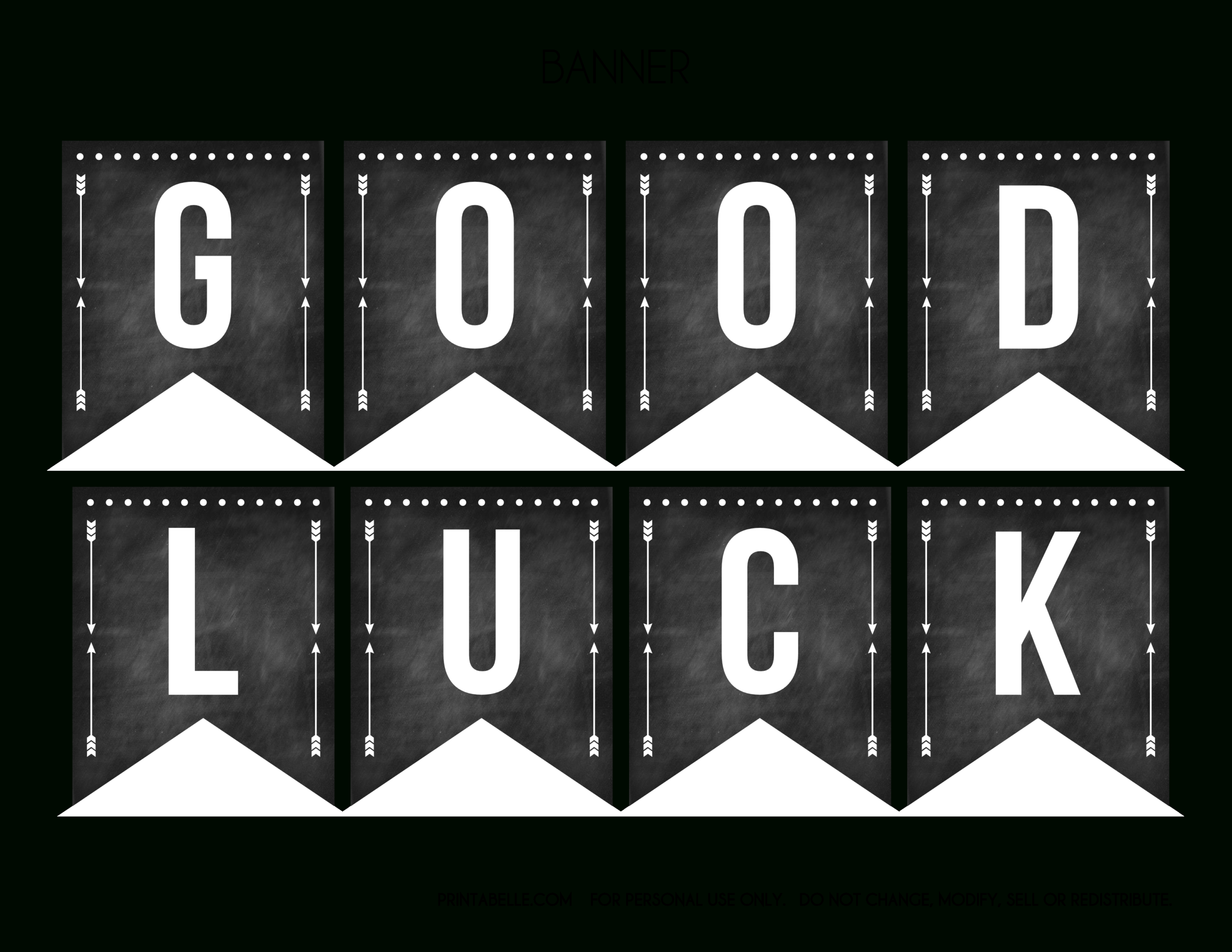 Good Luck Banner Template Best Template Examples With Regard To Graduation Banner Template