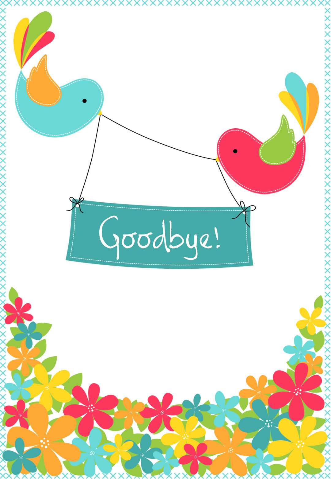Goodbye From Your Colleagues - Good Luck Card (Free Pertaining To Goodbye Card Template