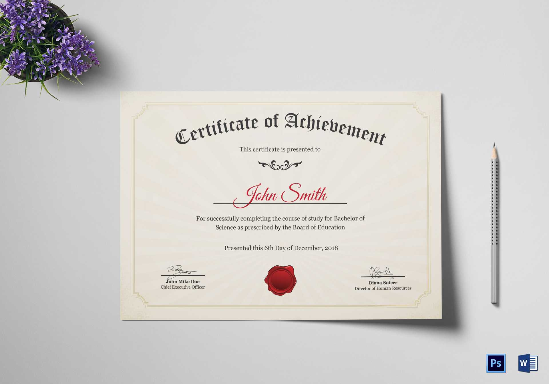 Graduation Degree Certificate Template with regard to Graduation Certificate Template Word
