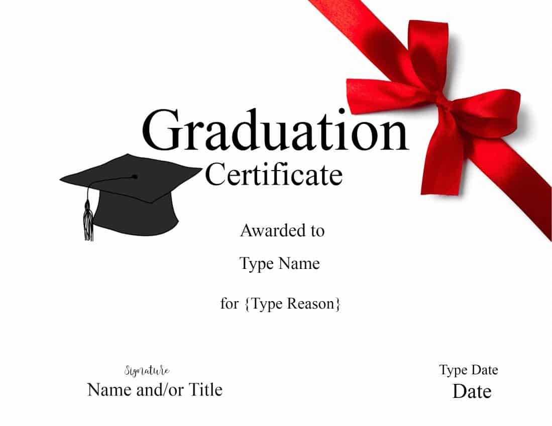 Graduation Gift Certificate Template Free Templates With Graduation Gift Certificate Template Free