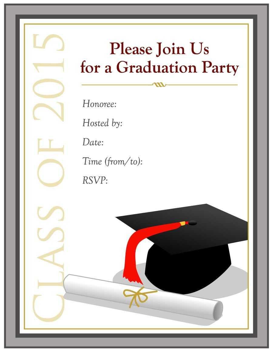Graduation Invitation Templates - 40+ Free Graduation For Free Graduation Invitation Templates For Word