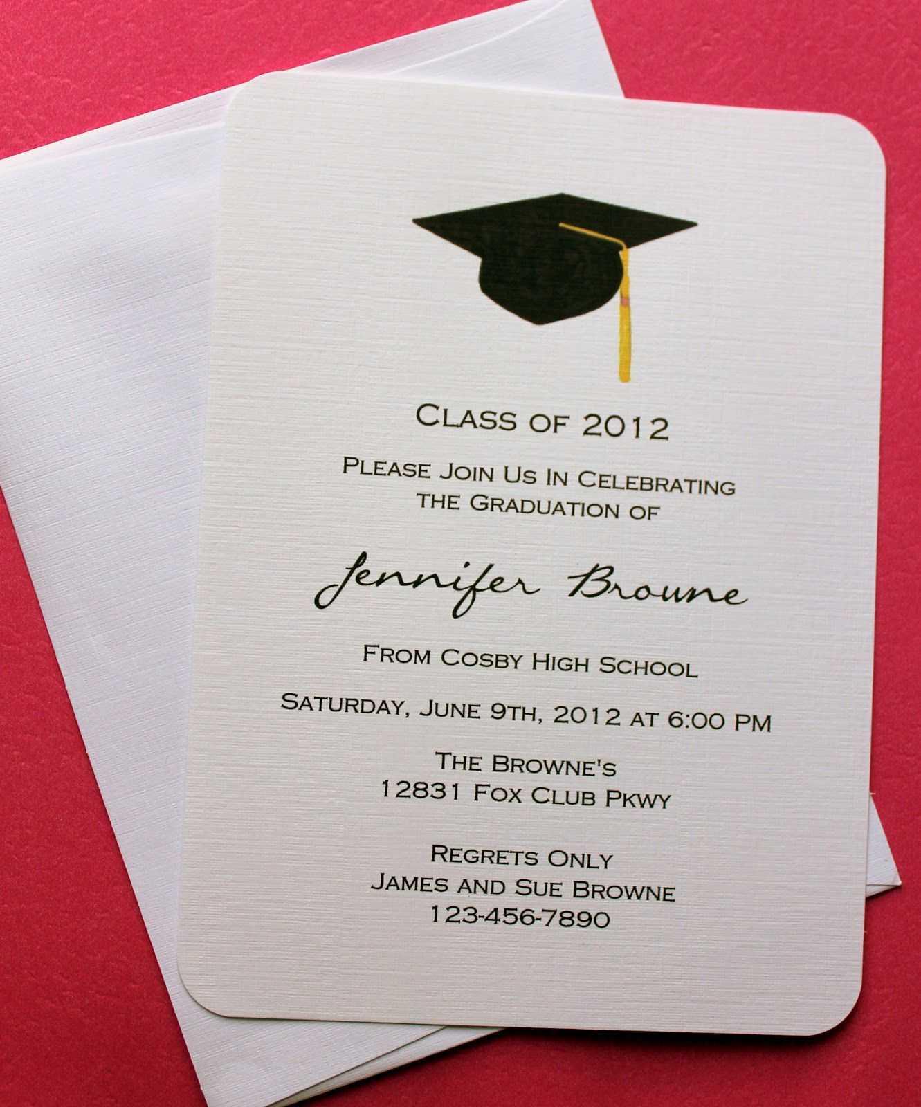 Graduation Invitation Templates Microsoft Word | Graduation Throughout Graduation Invitation Templates Microsoft Word