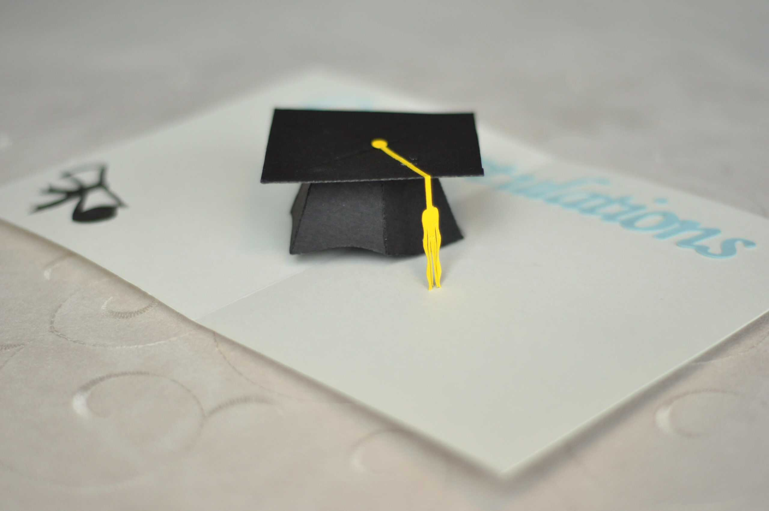 Graduation Pop Up Card: 3D Cap Tutorial | Pop Up Card With Graduation Pop Up Card Template
