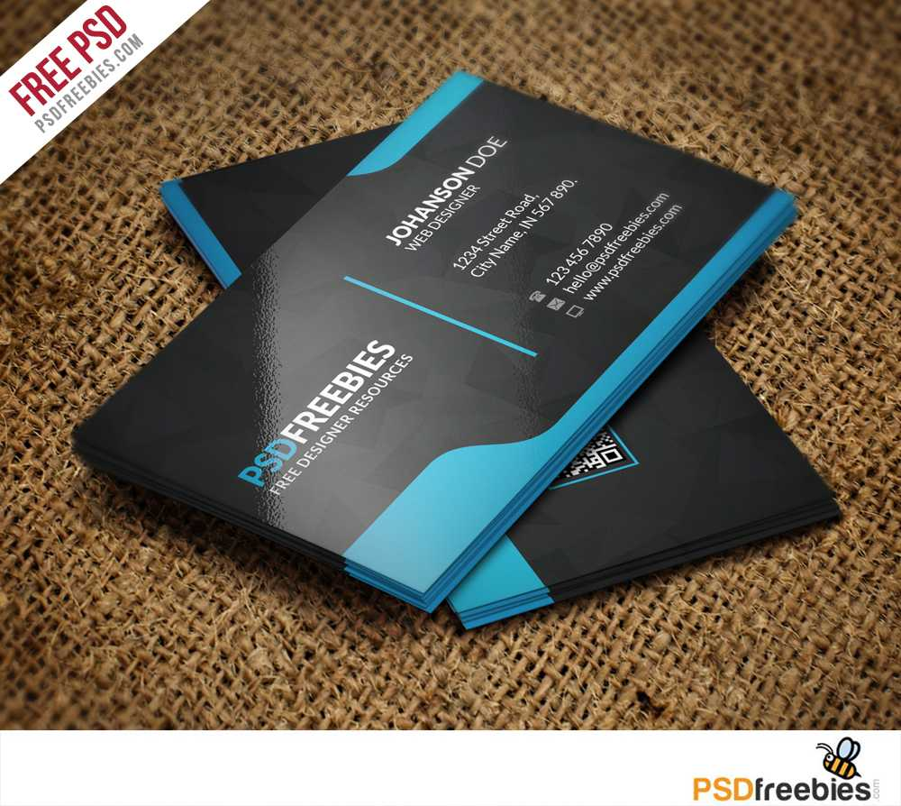 Graphic Designer Business Card Template Free Psd with Visiting Card Templates For Photoshop