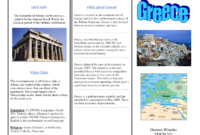 Greece Travel Brochure/kids Writing Project | Greece Travel with Travel Brochure Template Ks2