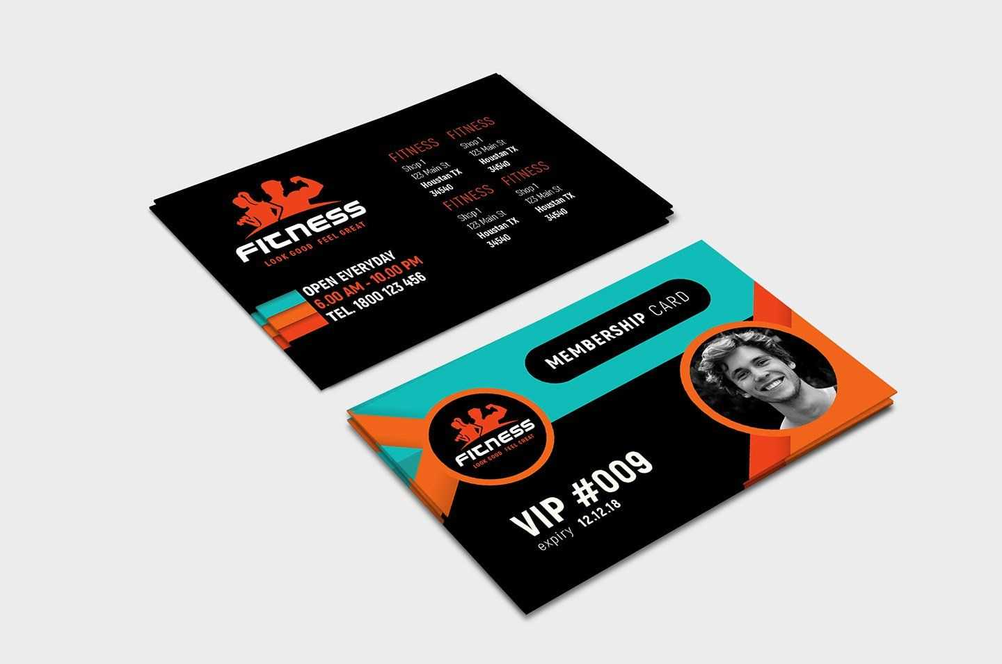 Gym Fitness Membership Card Template #ad , #ad, #illustrator with regard to Gym Membership Card Template