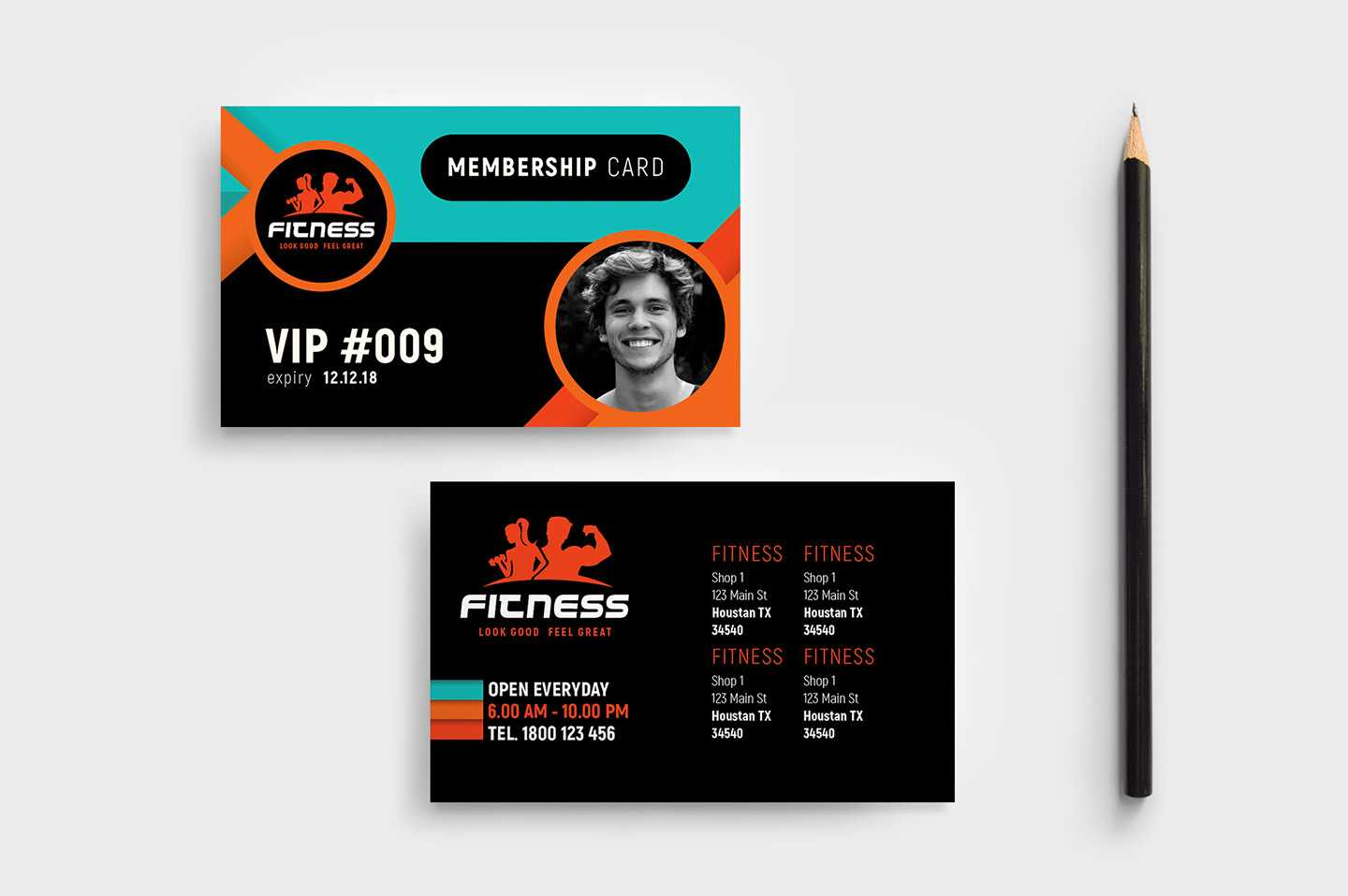 Gym / Fitness Membership Card Template In Psd, Ai & Vector Regarding Gym Membership Card Template