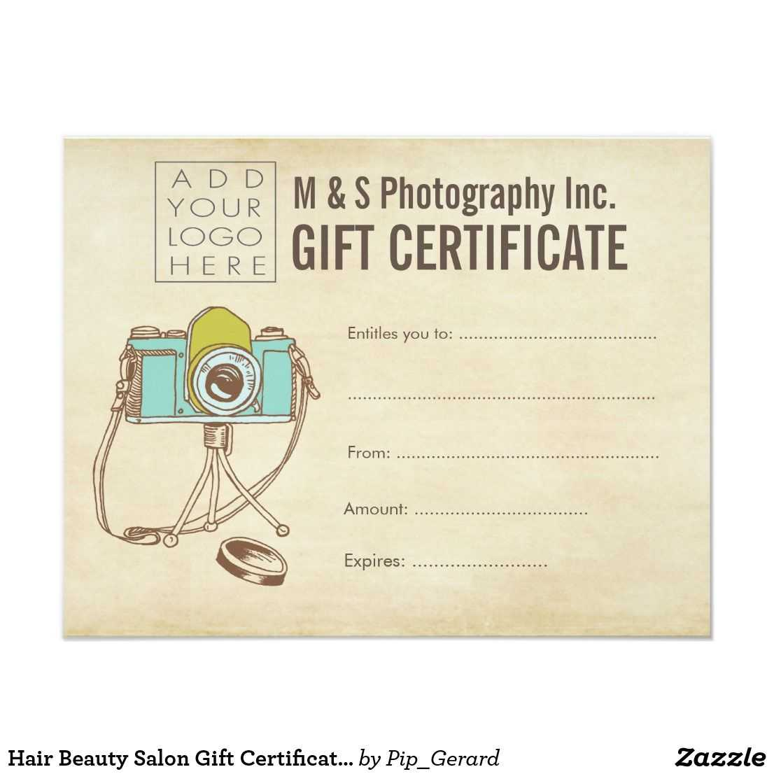 Hair Beauty Salon Gift Certificate Template   Zazzle within Salon Gift Certificate Template