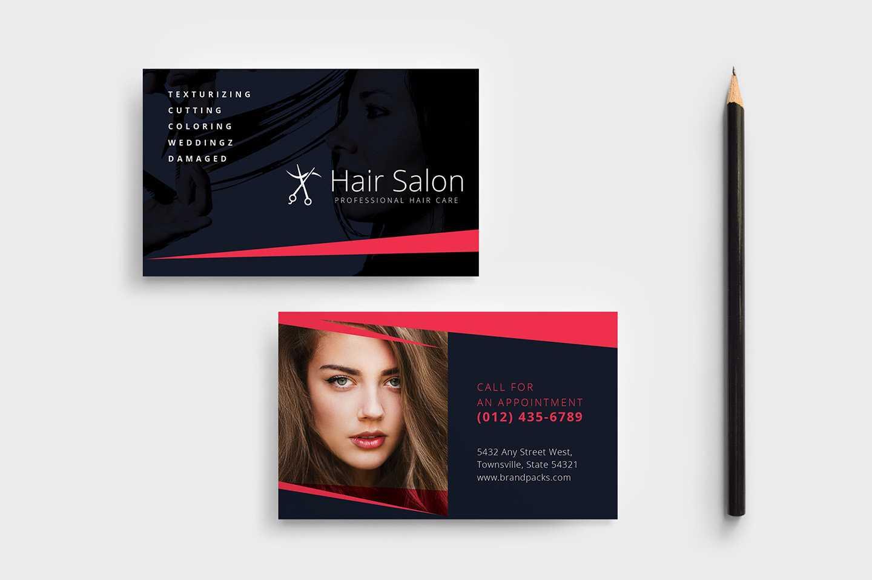 Hair Salon Business Card Template In Psd, Ai & Vector For Hair Salon Business Card Template