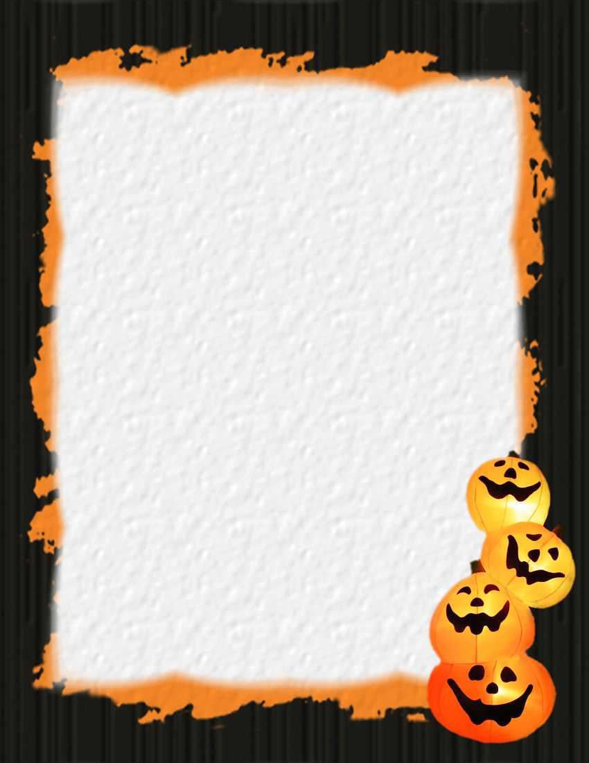 Halloween 1 Free Stationery Template Downloads Intended For Free Halloween Templates For Word