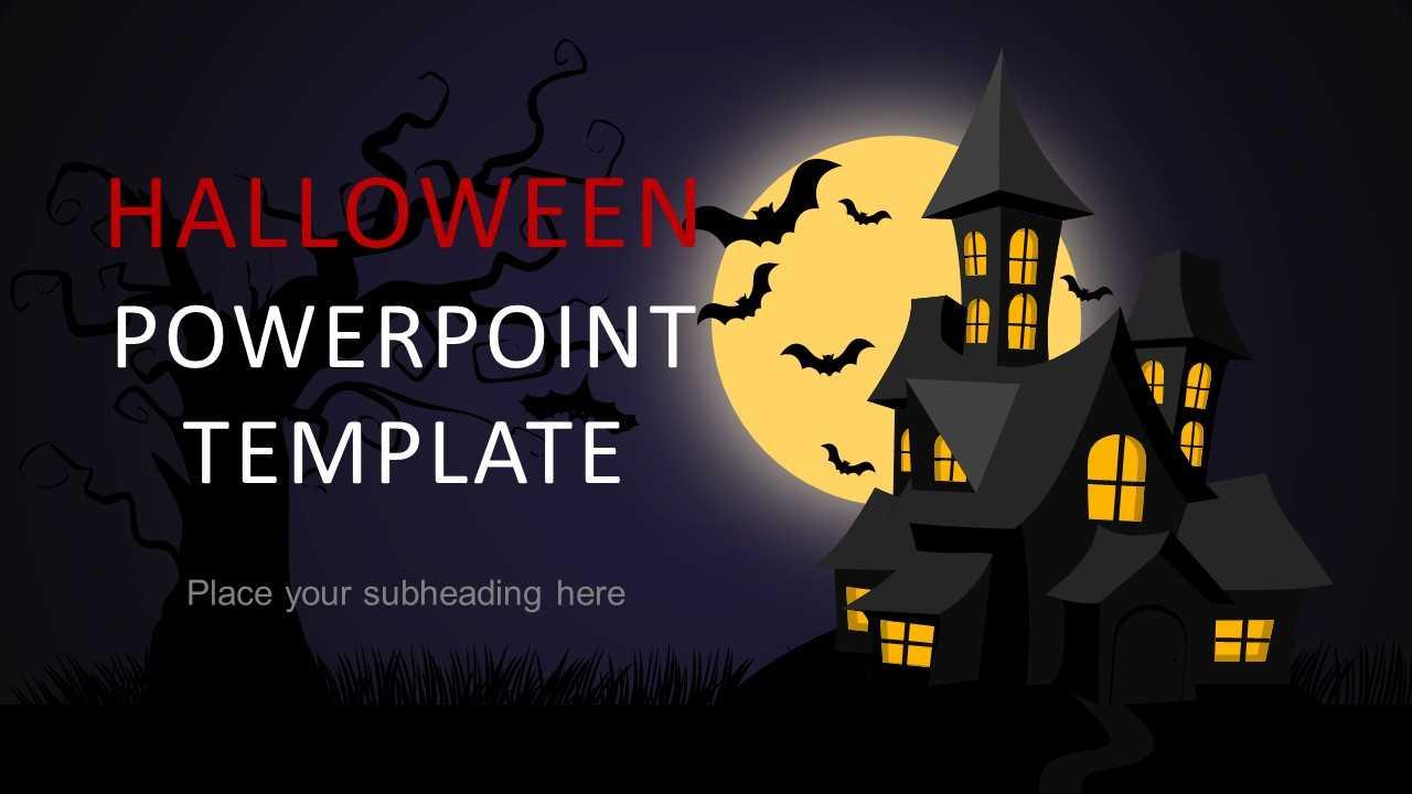 Halloween Powerpoint Template 2018 in Halloween Certificate Template