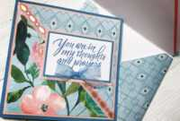Handmade Card Using Spring Posies Paper Padrecollections in Recollections Cards And Envelopes Templates
