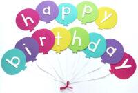 Happy Birthday Banner Diy Template | Balloon Birthday Banner within Diy Banner Template Free
