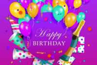 Happy Birthday Banner Poster Template within Free Happy Birthday Banner Templates Download