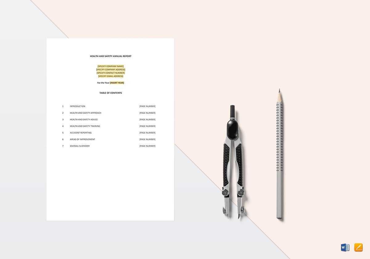 Health And Safety Annual Report Template with Annual Health And Safety Report Template