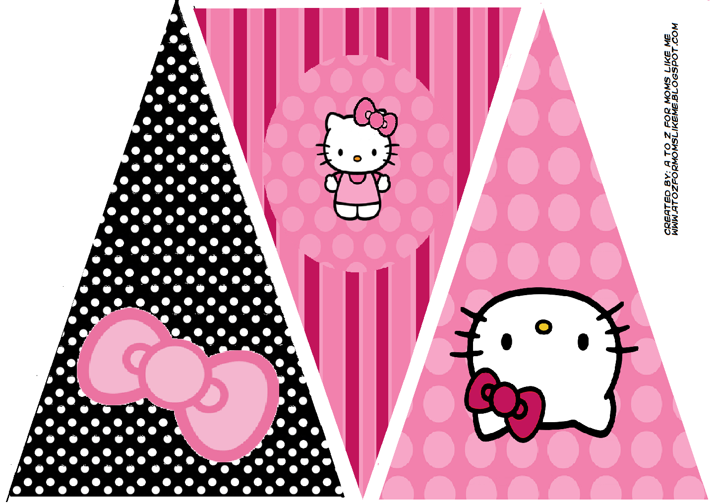 Hello Kitty Birthday Party Banner. This Is One Of 2 within Hello Kitty Banner Template