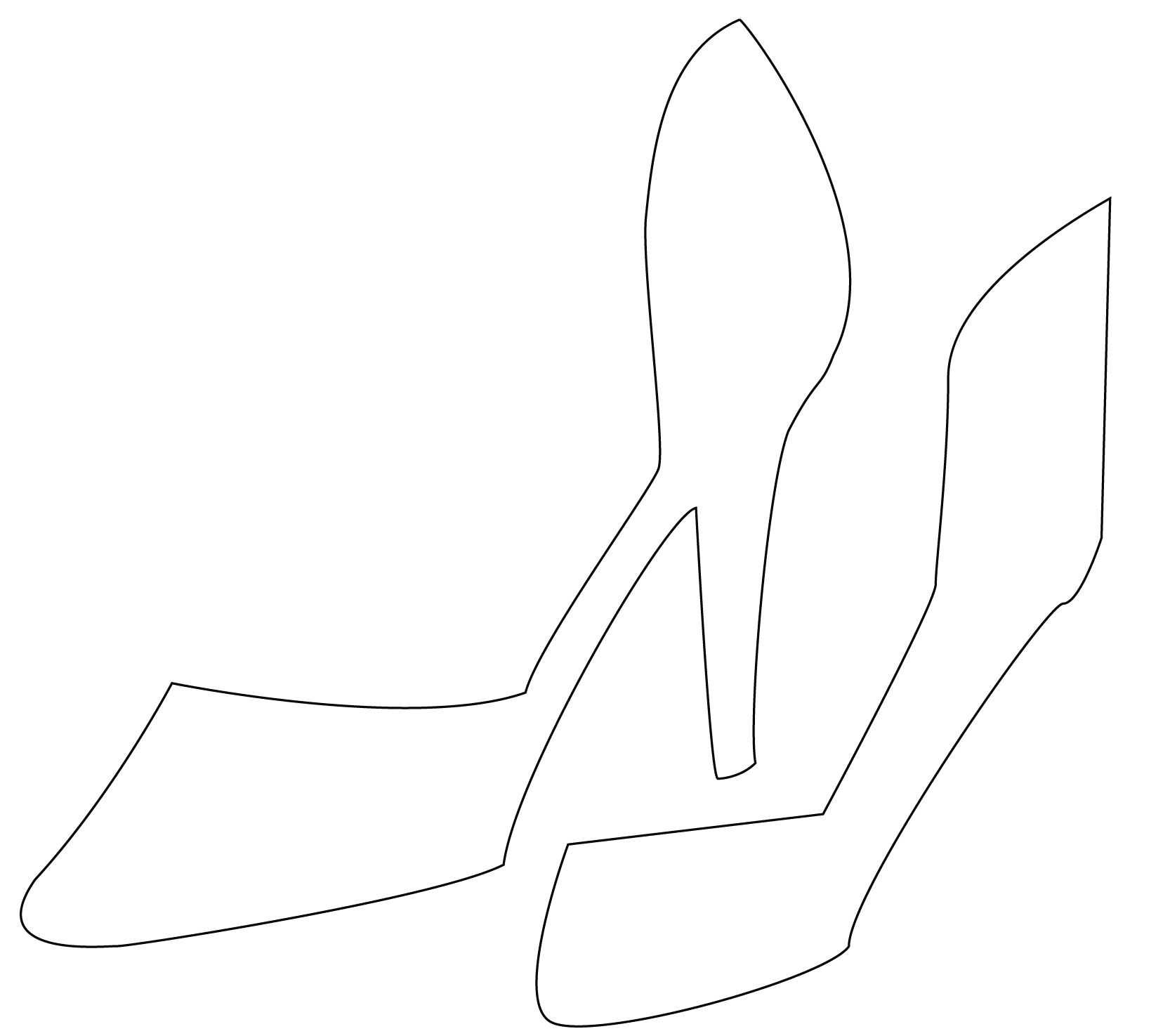 High Heel Drawing Template At Paintingvalley | Explore Pertaining To High Heel Template For Cards