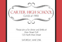High School Class Reunion X Invitation Card Reunion intended for Reunion Invitation Card Templates