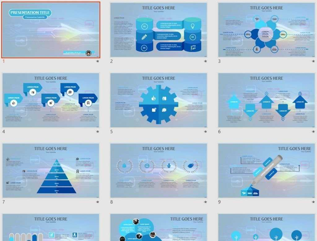 High Tech Powerpoint Template #67604 pertaining to High Tech Powerpoint Template
