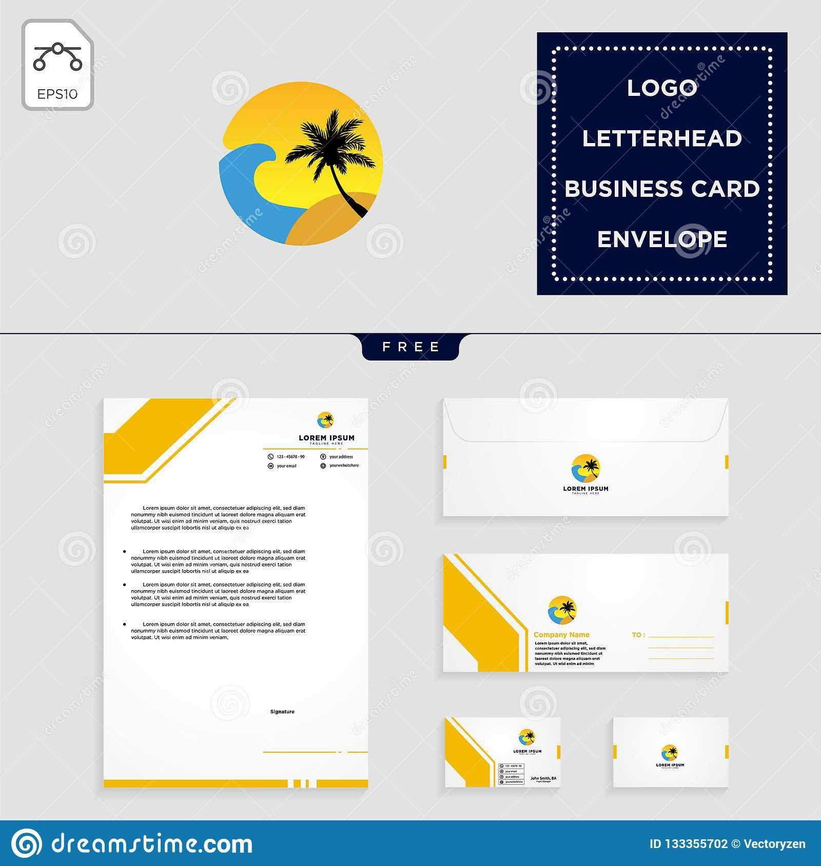 Holidays Logo Template And Free Letterhead, Envelope with regard to Business Card Letterhead Envelope Template