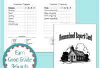Homeschool Report Cards – Flanders Family Homelife in Homeschool Report Card Template Middle School
